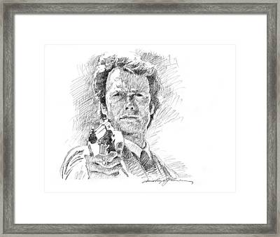 Clint Eastwood As Callahan Framed Print by David Lloyd Glover