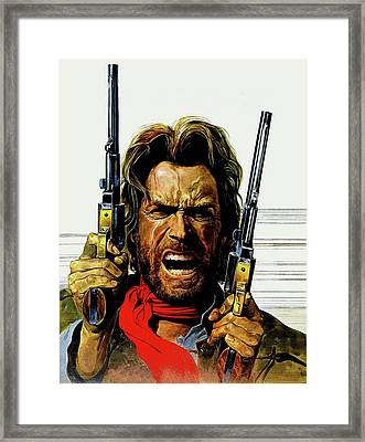 Clint Eastwood As Josey Wales Framed Print