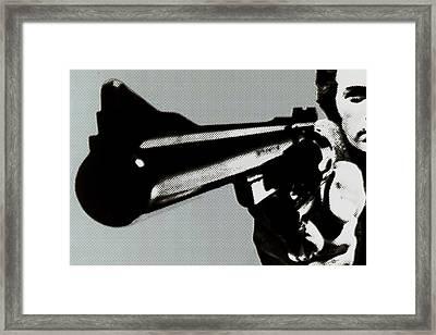 Clint Eastwood Big Gun Framed Print by Tony Rubino