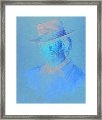 Clint Eastwood Framed Print by Charles Vernon Moran