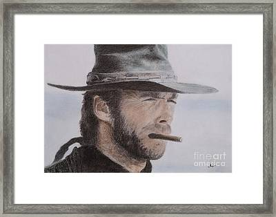 Clint Eastwood Drawing Framed Print