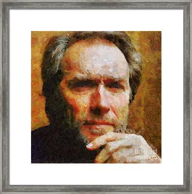 Clint Eastwood Framed Print by Elizabeth Coats
