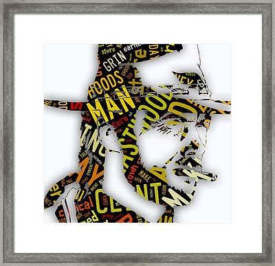 Clint Eastwood In Quotes Framed Print by Marvin Blaine