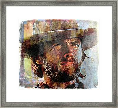 Clint Eastwood Framed Print by Mal Bray