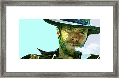 Clint Eastwood - The Man With No Name Framed Print by Thomas Pollart