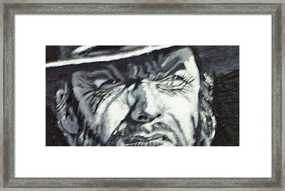Framed Print featuring the painting Clint  Eastwood by Paul Weerasekera