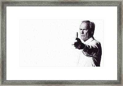Clint Eastwood Framed Print by Iguanna Espinosa