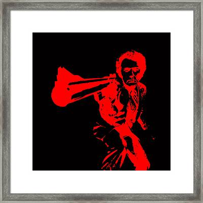 Clint Eastwood Red Framed Print by Brian Reaves