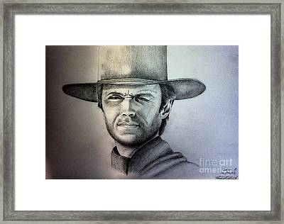 Clint Eastwood Portrait  Framed Print