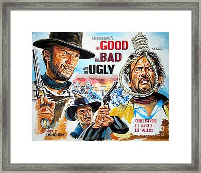 Clint Eastwood The Good The Bad And The Ugly Framed Print by Spiros Soutsos