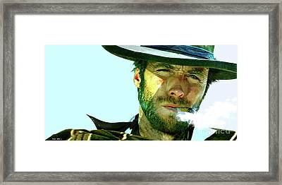 Clint Eastwood - The Man With No Name Framed Print