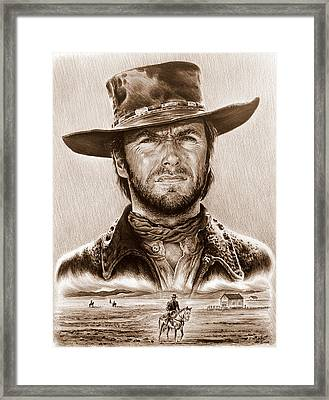 Clint Eastwood The Stranger Framed Print by Andrew Read
