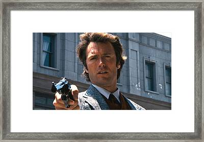 Clint Eastwood With 44 Magnum Dirty Harry 1971 Framed Print by David Lee Guss