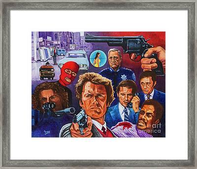 Clint Framed Print by Michael Frank