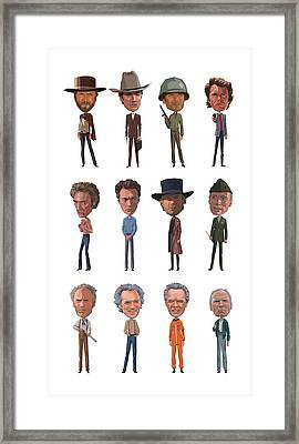 Clint Framed Print by Mitch Frey