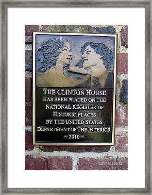 Clinton House Museum 2 Framed Print