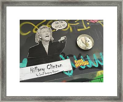 Clinton Message To Donald Trump Framed Print by Funkpix Photo Hunter