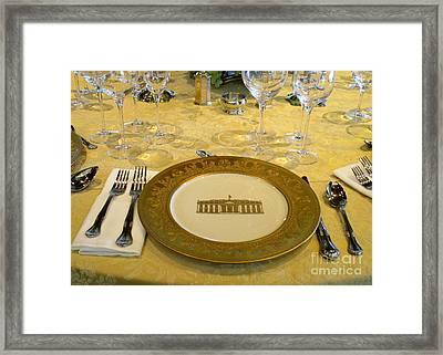 Clinton State Dinner 2 Framed Print