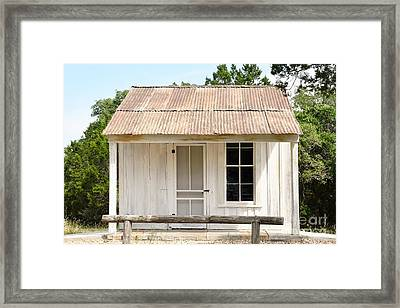 Framed Print featuring the photograph Clint's Cabin - Texas - Close-up by Ray Shrewsberry