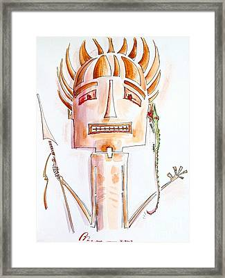 Tribal Clip On Framed Print by Barbara Chase
