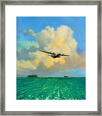 Clipper Over The Islands Framed Print by David  Van Hulst