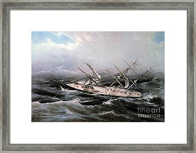 Clipper Ship Comet, 1855 Framed Print by Granger