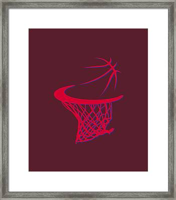 Clippers Basketball Hoop Framed Print