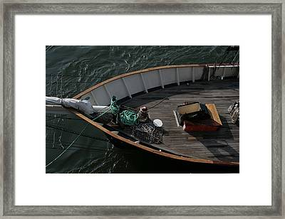 Clipper's Bow Framed Print by Christopher Kirby