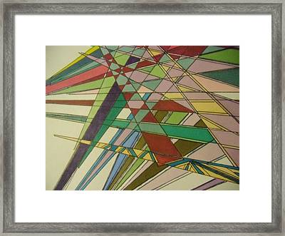 Clips And Spikes II Framed Print by Modern Metro Patterns and Textiles