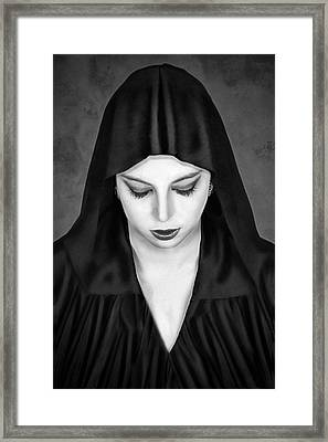 Cloaked Beauty Framed Print by Baden Bowen