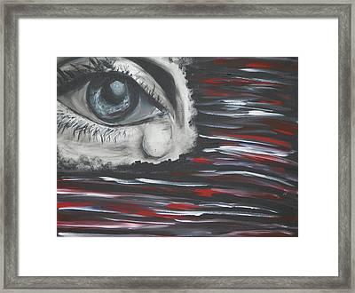 Cloaked Emotions Framed Print