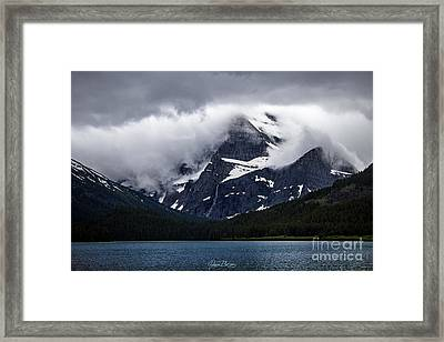 Cloaked In Storm Framed Print