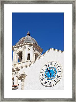 Clock And Tower Framed Print by Rob Hans