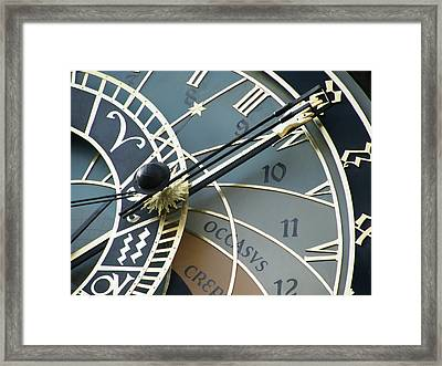 Prague - Astronomical Clock Face Framed Print by Philip Openshaw