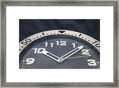 Clock Face Framed Print by Rob Hans