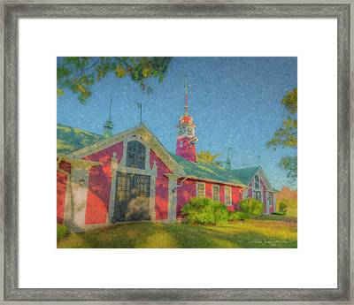 David Ames Clock Farm Framed Print