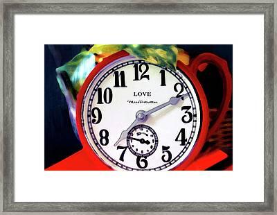 Clock In The Garden  4 Framed Print