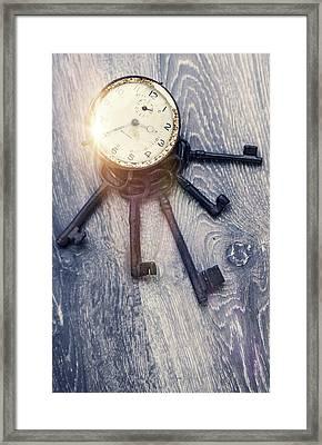 Clock Is Ticking Framed Print