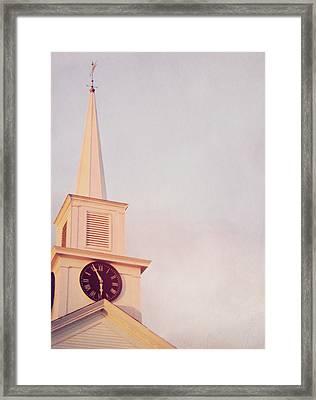 Clock Steeple Framed Print by JAMART Photography