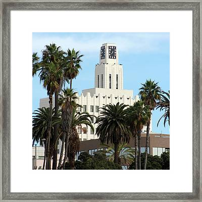 Clock Tower Building, Santa Monica Framed Print