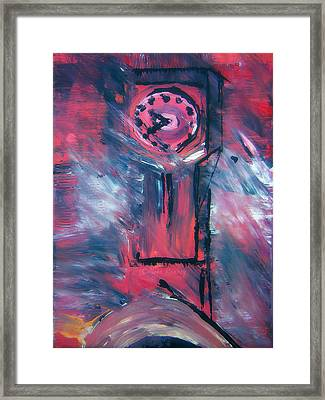 Clock Tower By Colleen Ranney Framed Print