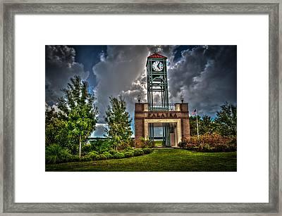 Clock Tower Framed Print by DeWayne Beard