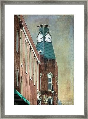 Clock Tower Downtown Statesville North Carolina Framed Print