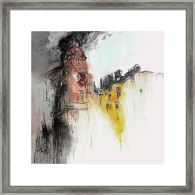 Clock Tower I Framed Print by Mawra Tahreem