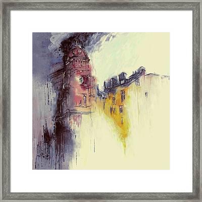 Clock Tower II Framed Print by Mawra Tahreem