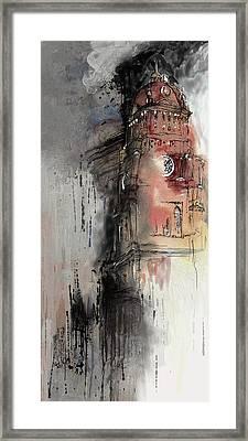 Clock Tower IIi Framed Print by Mawra Tahreem