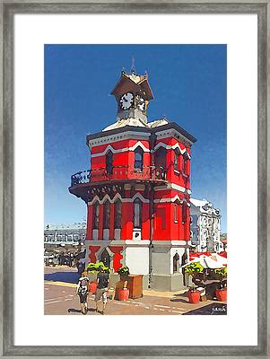 Clock Tower Framed Print by Jan Hattingh