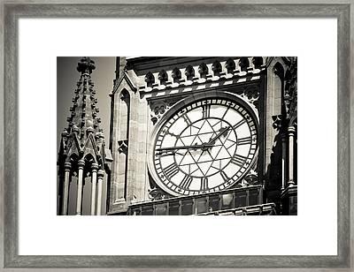 Clock Tower Framed Print by Martina Heart