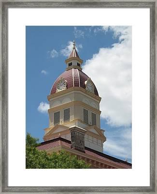 Clock Tower Framed Print by Rebecca Shupp