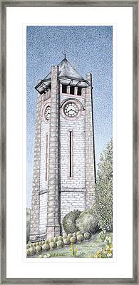 Clock Tower Framed Print by Sandra Moore